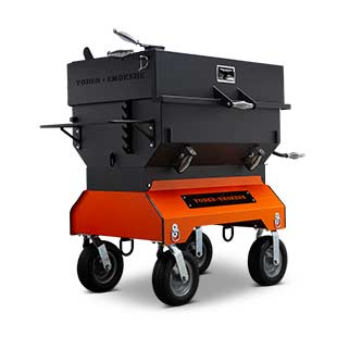 Yoder Smokers 24 by 36 Inch Charcoal Grill on Competition Cart