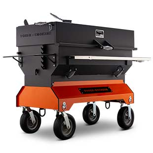 Yoder Smokers 24 by 48 Inch Charcoal Grill on Competition Cart