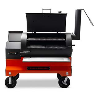 YS1500s Competition Cart Pellet Smoker that is American Made