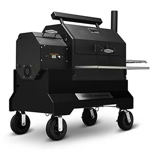 Yoder Smokers YS640s Pellet Grill on Competition Cart