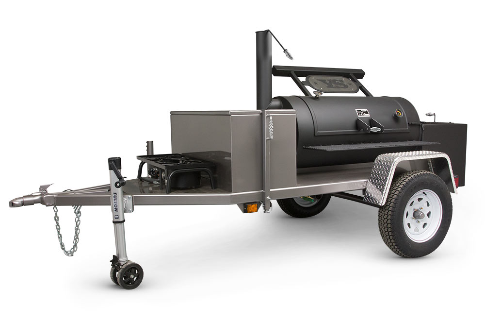 "MAIN IMAGE - Yoder Smokers Chisholm 24"" Trailer Smoker"